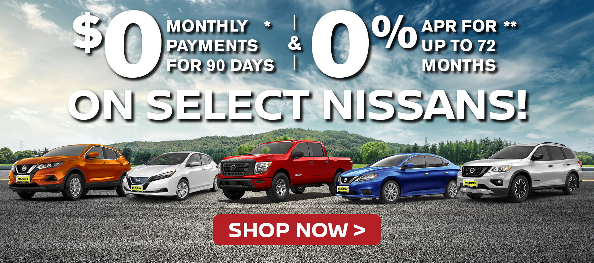 Mossy Nissan - 0% for 72