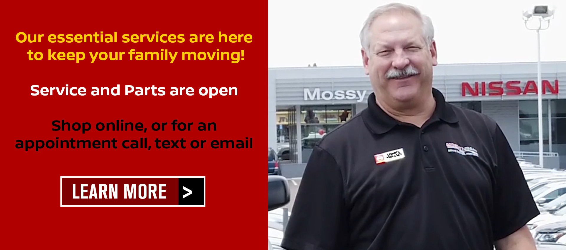 Mossy Nissan - Essential Services