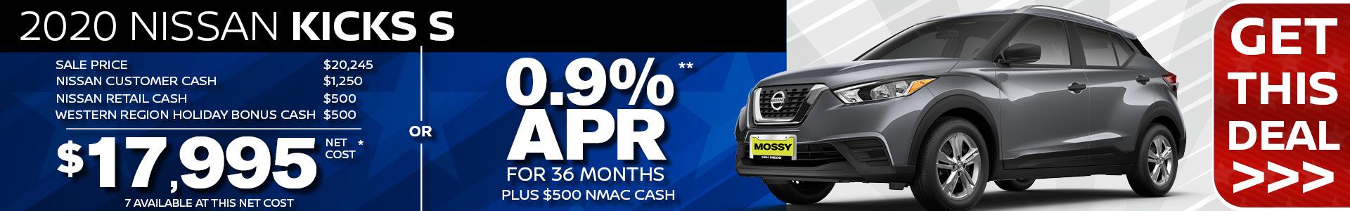 Mossy Nissan - Kicks SRP