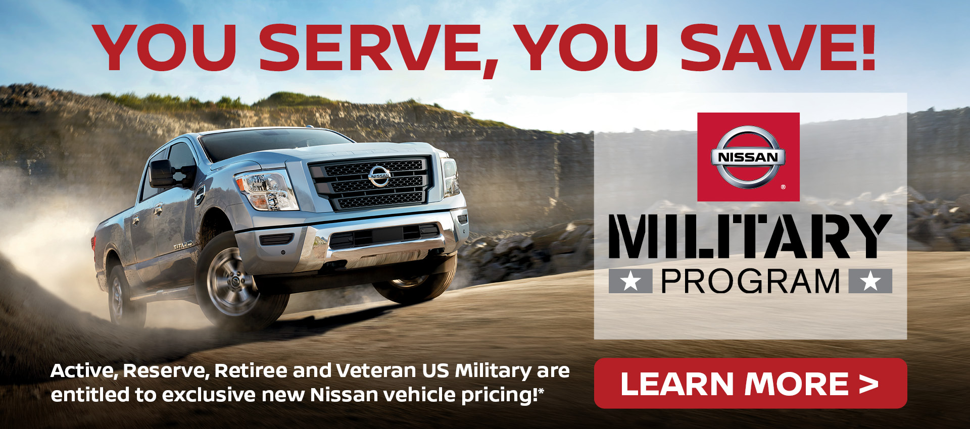 Mossy Nissan - Military Banner