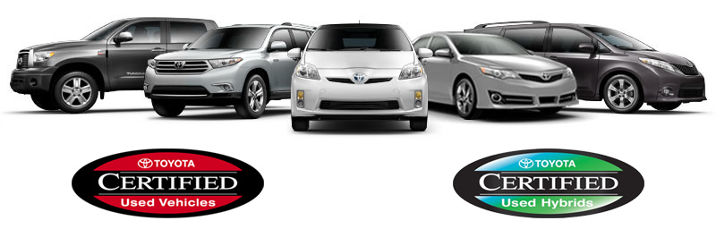 Toyota Certified Used Vehicles & Hybrids