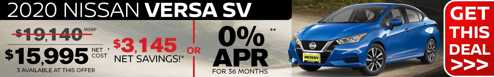 Mossy Nissan - Versa SRP